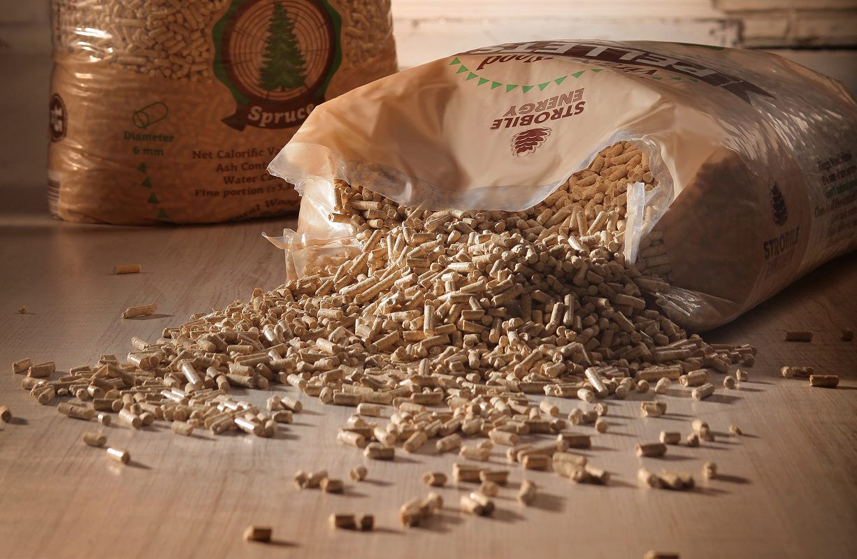 Confident choice of wood pellets at Strobile