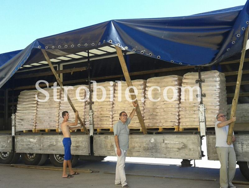 One of the deliveries of Virgin Wood Pellets Silver Fir to Italy